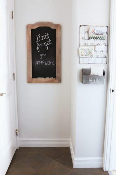 The Inspired Room - Hallway Chalkboard