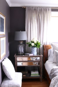 Master Bedroom Sneak Peek! {Black Frosted Plum Walls