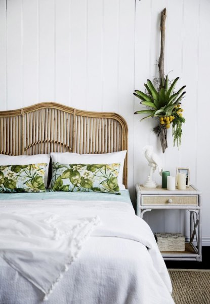 beautiful tropical bedroom design Rattan & Bamboo Accent Furniture {Classic & Trending