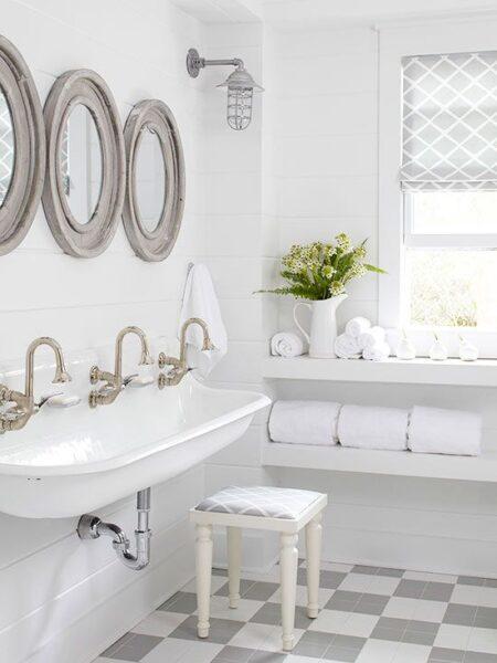 Shiplap Bathroom Kohler Brockway Sinks