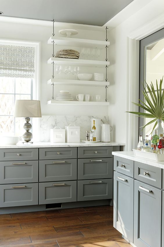 Image result for open shelving kitchen