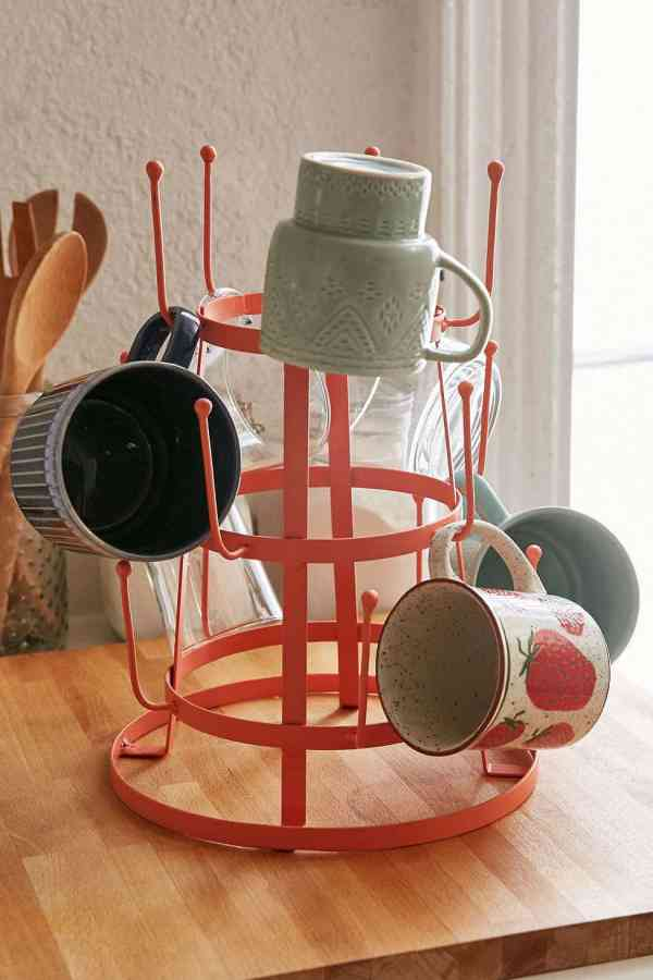 Mug Rack Kitchen Coffee Station The Inspired Room