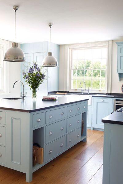 Powder Blue Kitchen Cabinets
