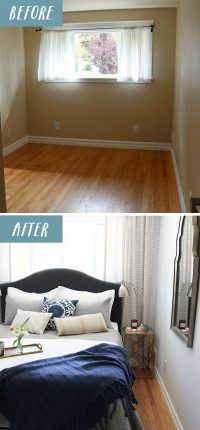 Small Bedroom Makeover: Before & After - The Inspired Room