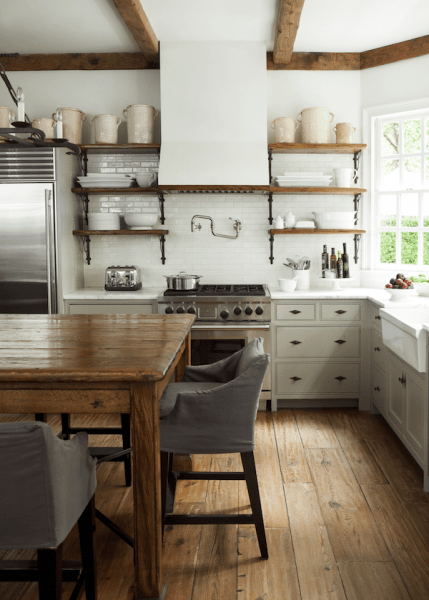 open rustic kitchen cabinets Kitchen Open Shelving: The Best Inspiration & Tips! - The