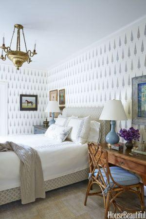 bedroom decor inspiration wall bedrooms diy bed decorating designs walls housebeautiful turner decoration 1930s feel retro makes again colors silahsilah