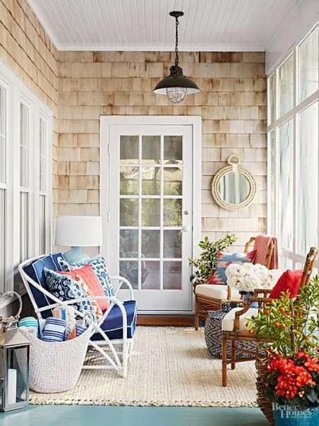 Covered porch decorating