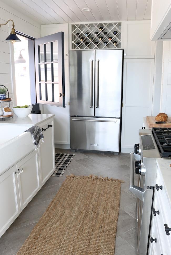 herringbone floor tile in my kitchen