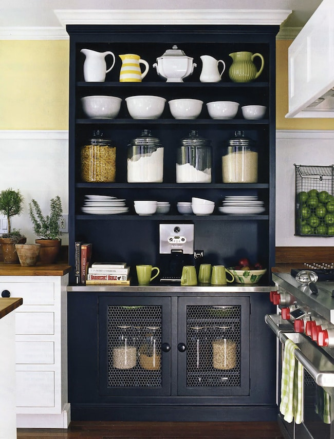 kitchen pantry cabinets freestanding lowes floor tile where do you store your dishes? - the inspired room