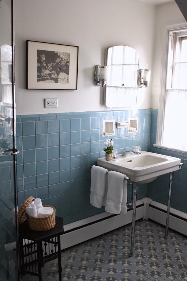 Vintage Bathrooms My Mint Amp Pink Bathroom The Inspired