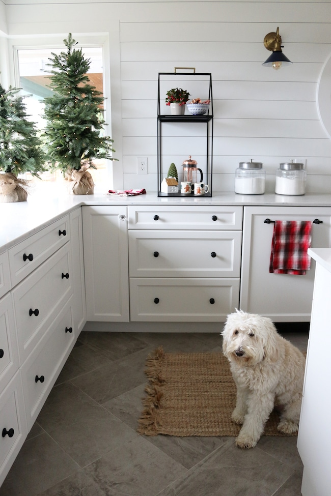 Simple Christmas Display Shelf in My Kitchen  The