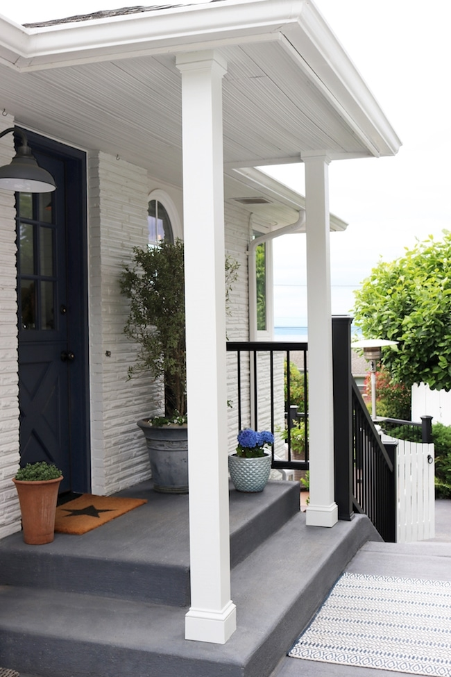 How To Paint Your Concrete Steps Or Patio The Inspired Room | Painting Exterior Concrete Steps | Wood | Cement | Behr | Curb Appeal | Coating