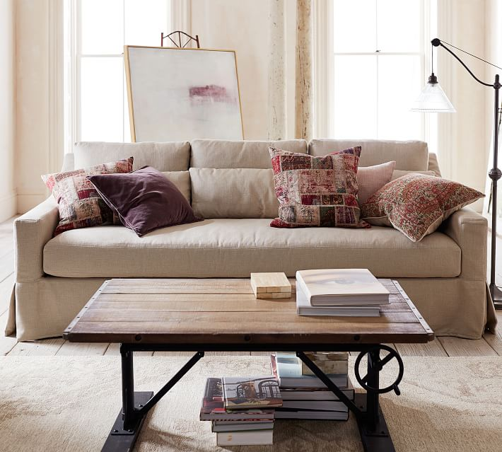 white slipcovered sofa living room decorating ideas for wall niche i ordered a new couch the inspired