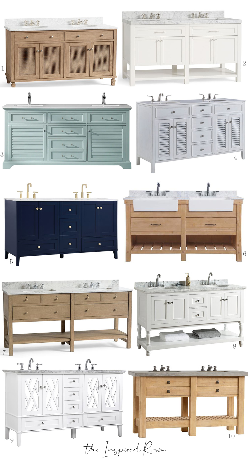 Favorite Bathroom Vanities The Inspired Room
