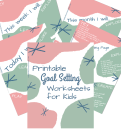 Printable Goal Setting Worksheet for Kids! - The Inspired Treehouse [ 1080 x 1080 Pixel ]