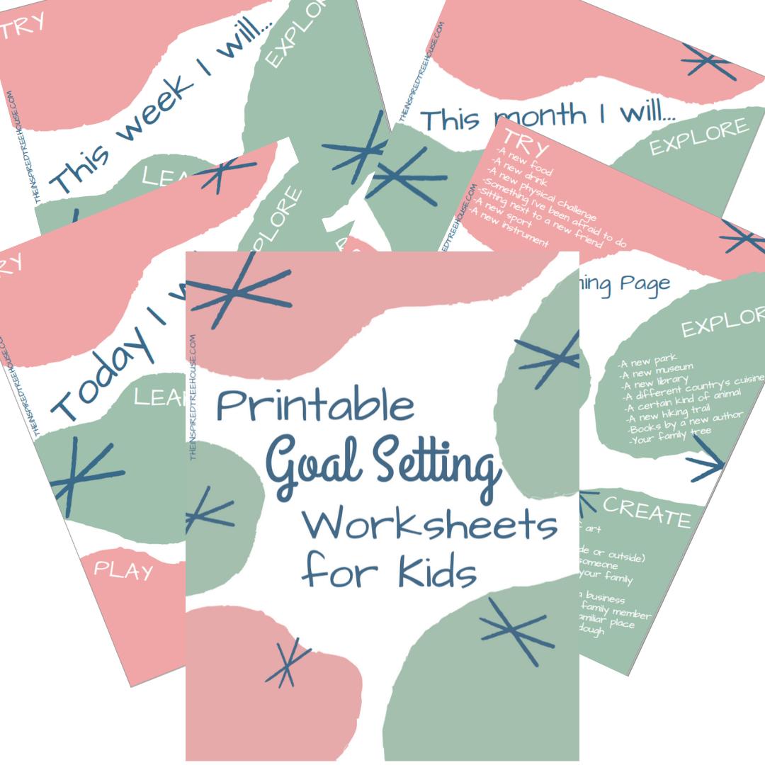 hight resolution of Printable Goal Setting Worksheet for Kids! - The Inspired Treehouse