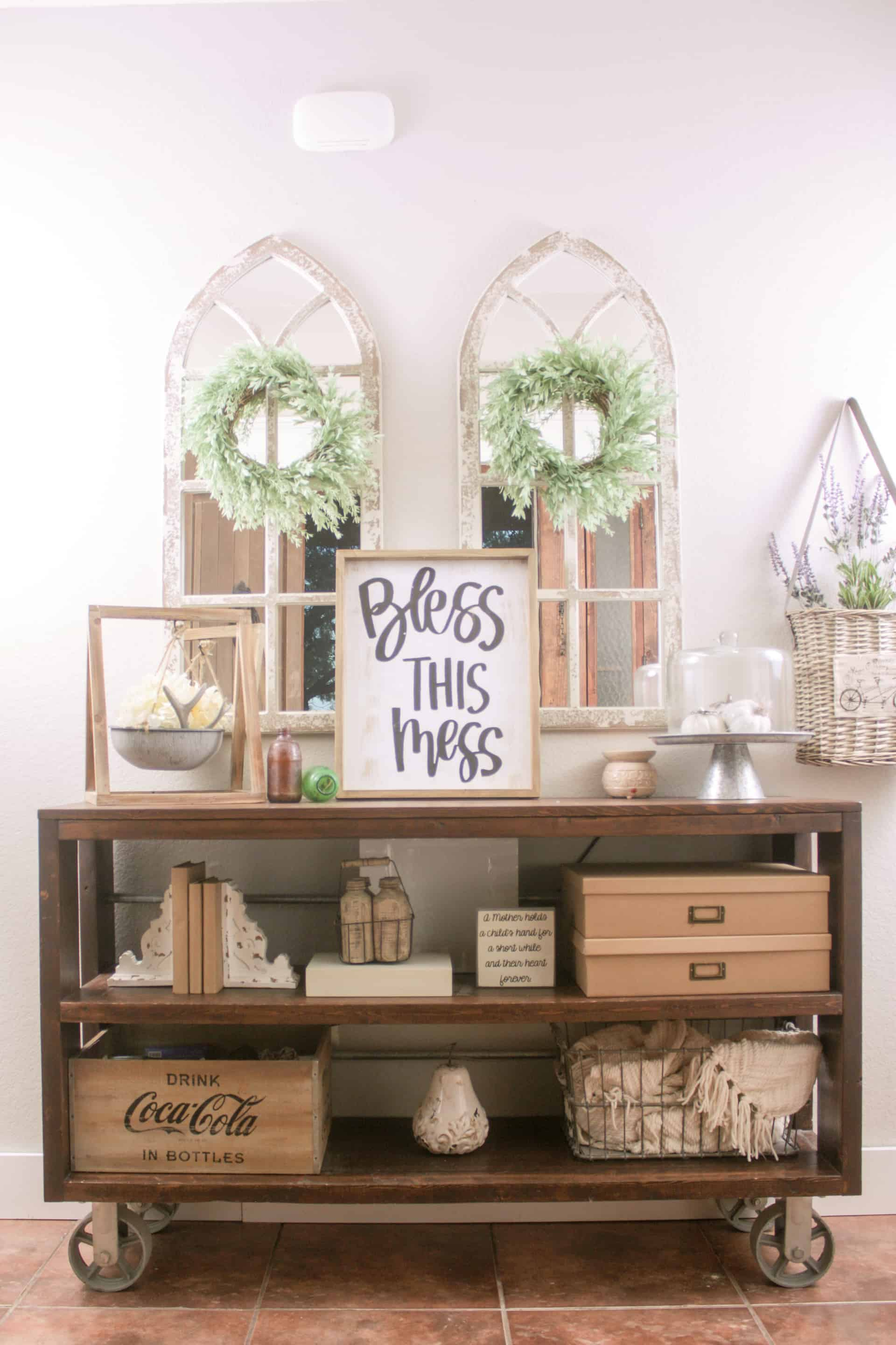 Exceptionnel DIY Restoration Hardware Wood And Steel Console Table