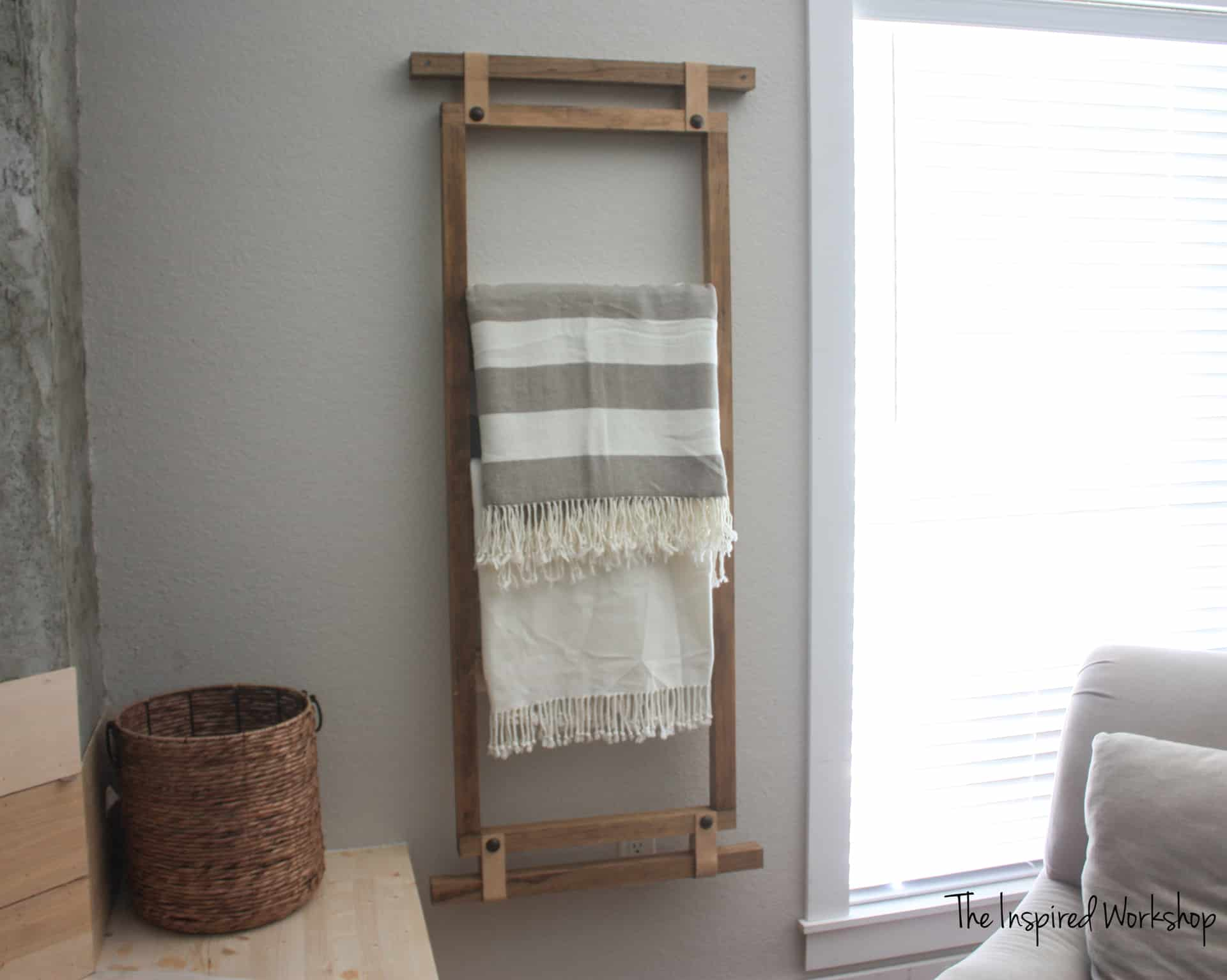 diy wall blanket ladder the inspired