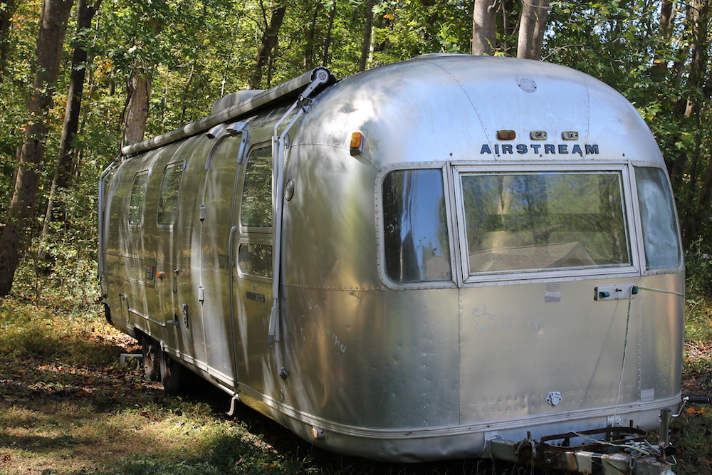vintage airstream renovation raleigh before