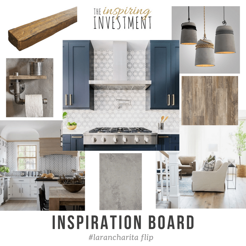 inspiration vision board navy cabinets wood