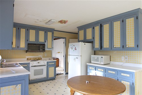 outdated cary flip house before renovation kitchen