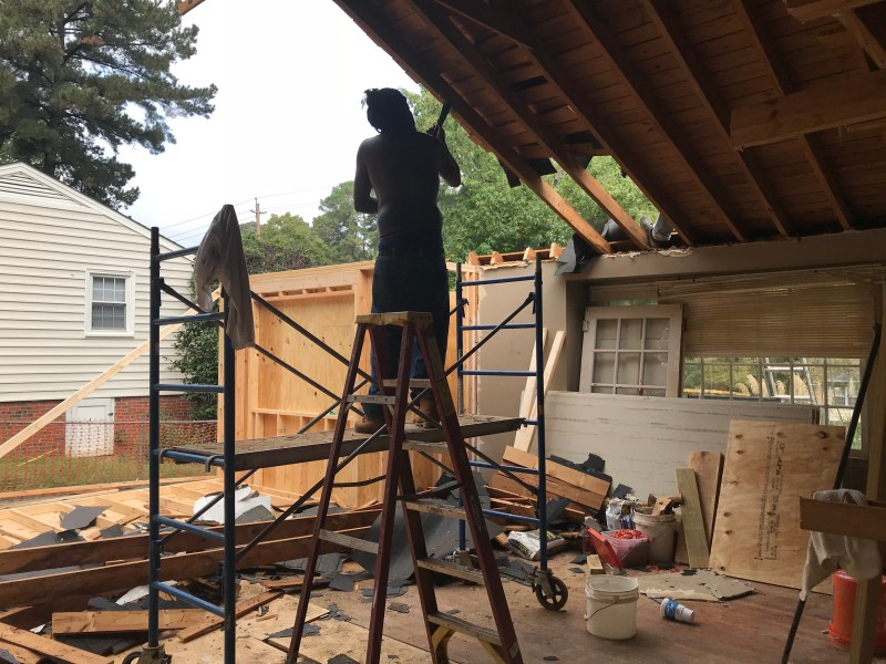 raise the roof construction framing how to renovation flip houses raleigh