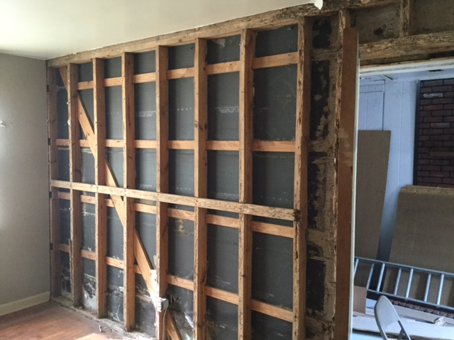 remodel flip raleigh before renovation living room and porch wall how to remove a wall ranch