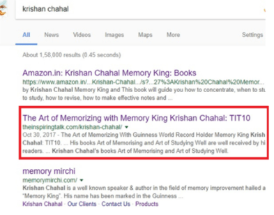 krishan Chahal memory king google search