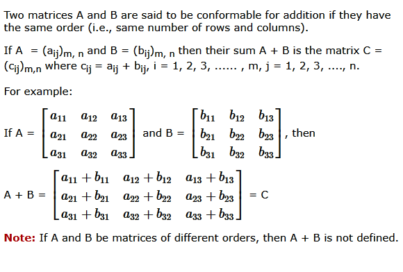 6.1 Matrix Addition