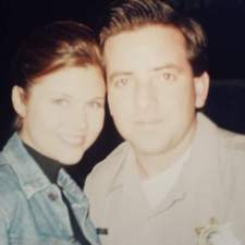 Tiffani Thiessen and Mark Anthony Cox