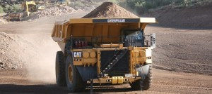 A Caterpillar haul truck in action. Copyright: The Intelligent Miner