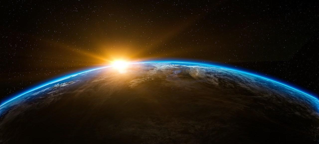 Sunrise from space. Image: Pixabay