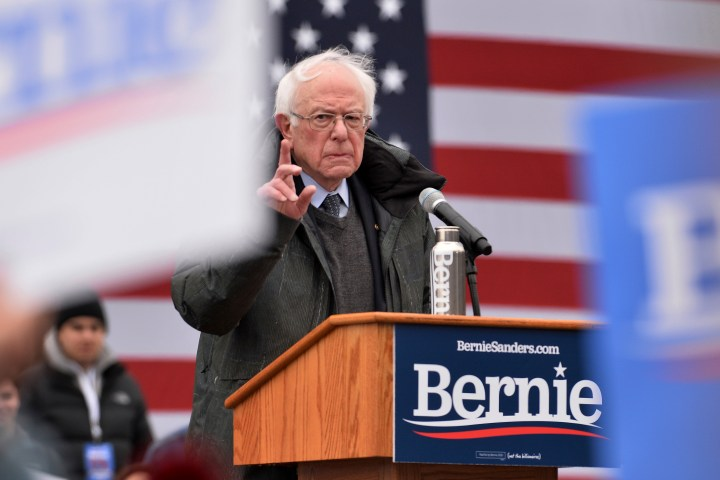 Sen. Bernie Sanders, I-Vt, speaks at a political rally to kick off his 2020 U.S. Presidential Campaign at Brooklyn College in the New York City borough of Brooklyn, NY, March 2, 2019. This is the second time Bernie Sanders runs for President of the United States.Photo by Anthony Behar/Sipa USA)(Sipa via AP Images)