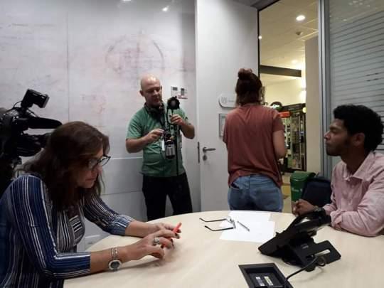 Professor Pedro Mara em entrevista para a RJ2.