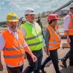 O ex-presidente Luiz Inácio Lula da Silva visita o Porto de Itaqui ao lado do governador do Maranhão, Flavio Dino, em 5 de setembro de 2017.