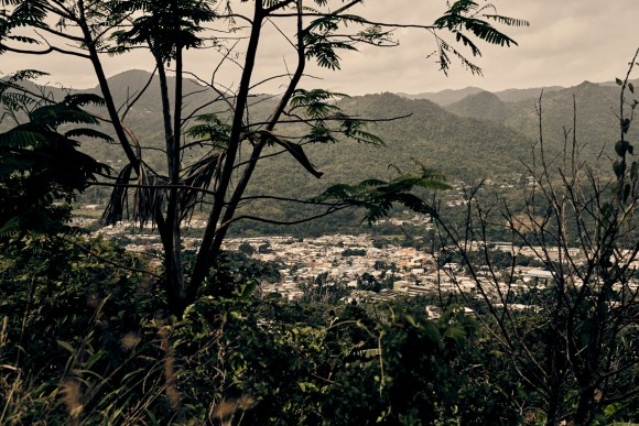 Adjuntas, Puerto Rico - 8/15/19: The town center of Adjuntas. Casa Pueblo has teamed with the Honnold Foundation to energize the town center as proof that small solar grids are a sustainable way to relieve dependence on fossil fuels.CREDIT: Christopher Gregory for The Intercept