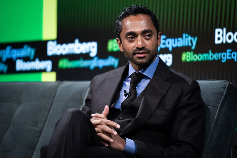 Chamath Palihapitiya, founder and chief executive officer of Social Capital LP, listens during the Bloomberg Business of Equality conference in New York, U.S., on Tuesday, May 8, 2018. The conference brings together business, academic and political leaders as well as nonprofits and activists to discuss the future of equality, how we get there and what is at stake for the economy and society at-large. Photographer: Mark Kauzlarich/Bloomberg via Getty Images