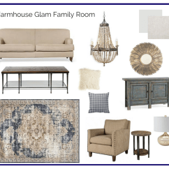 Farmhouse Glam Living Room Silver Furniture In A Box Family The Interior Design Advocate Glamorous