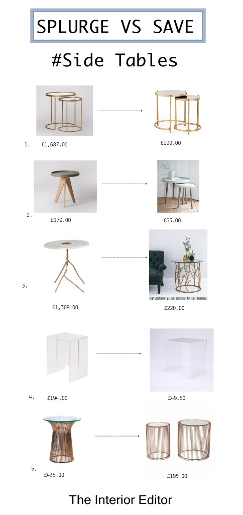 Splurge Vs Save - #Side Tables