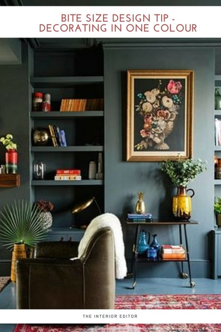 Bite Size Design Tip - Decorating in One Colour