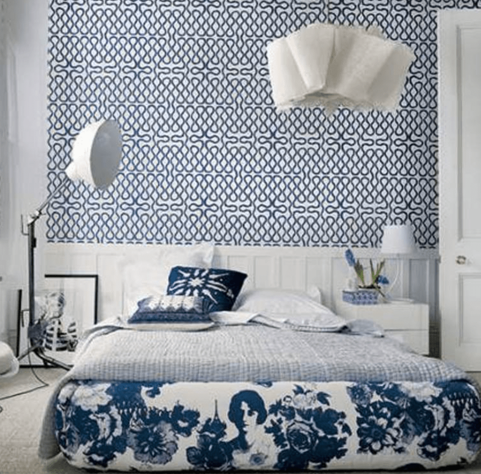 Your Guide To Using Pattern In Your Homes | Don't think you have to stick to one pattern in a room. In fact you can combine and mix patterns, just stick to a cohesive colour scheme. The Scandi style bedroom above demonstrates that mixing pattern actually creates a far more interesting space.