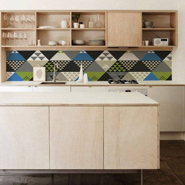 An Alternative Kitchen Splashback - Kitchen Wallpaper by Lime Lace