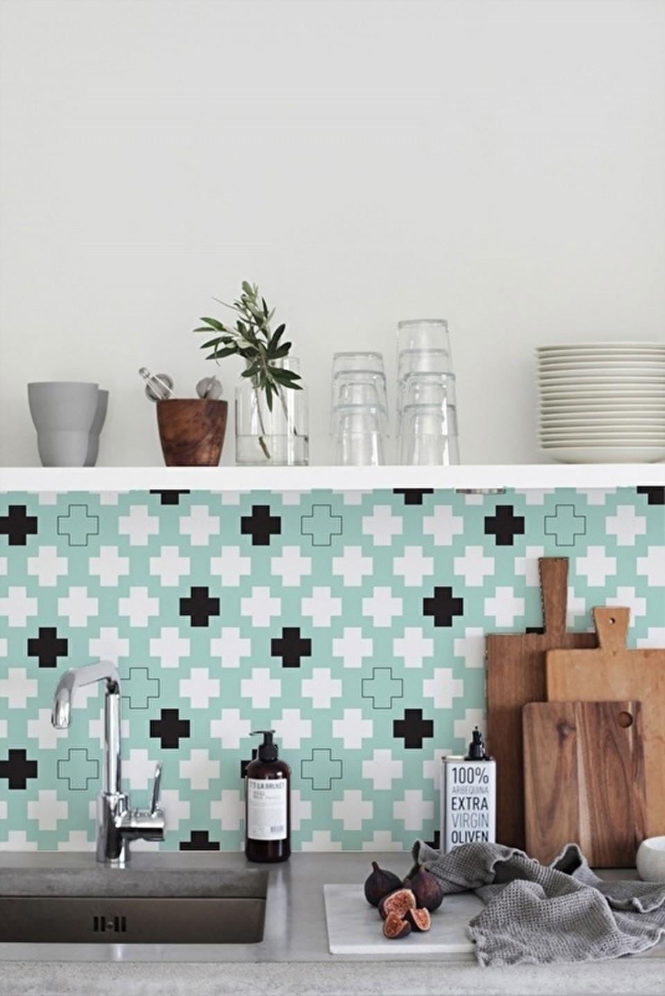 An Alternative Kitchen Splashback – Kitchen Wallpaper by Lime Lace ...