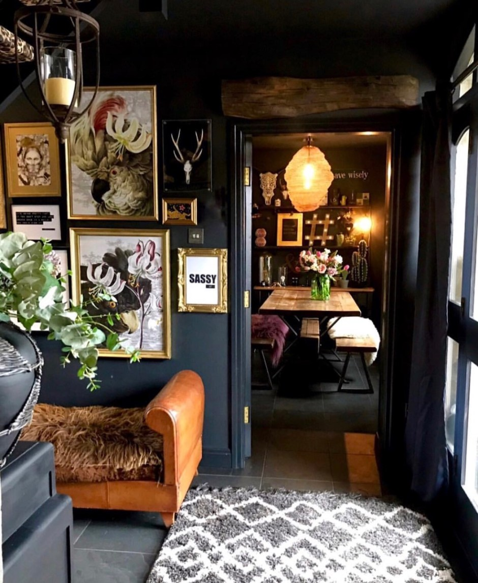 Eclectic Dark Glamorous Home Tour Sally Worts The Interior Editor
