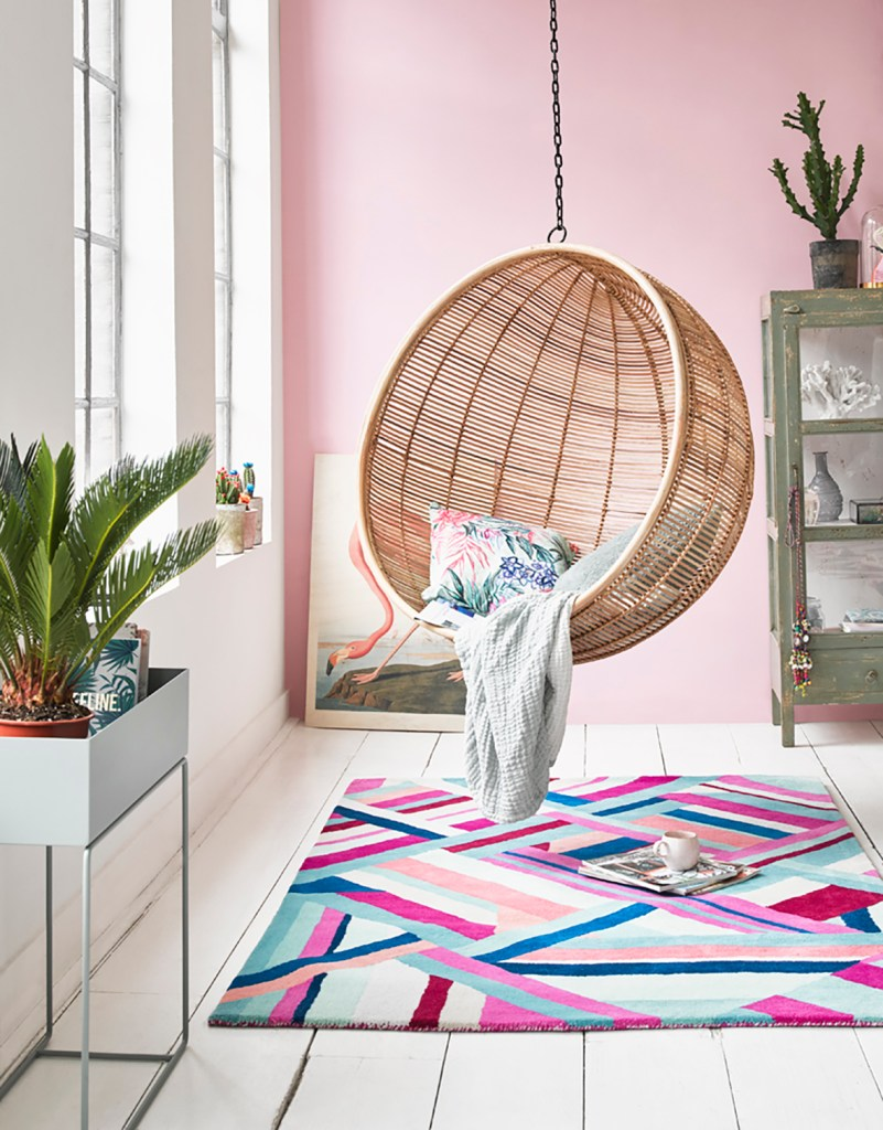 12 Essential Design Tips To Help Update ​Your Home | Add colour and pattern to your floors with decorative rugs like this Accessorize 017 rug from Modern Rugs.