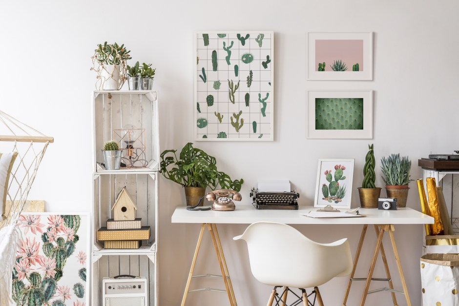 12 Essential Design Tips To Help Update ​Your Home | Introduce pattern and colour with artwork such as these framed Cactic posters from Pixers.