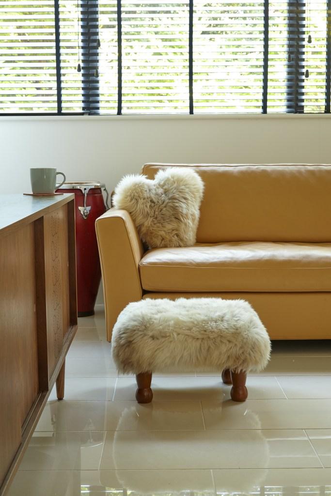 Baa Stool - Handmade Sustainable Sheepskin Designs | Baa Stool offer luxury sheepskin footstools with a removable washable sheepskin cover and using sustainable hardwood.