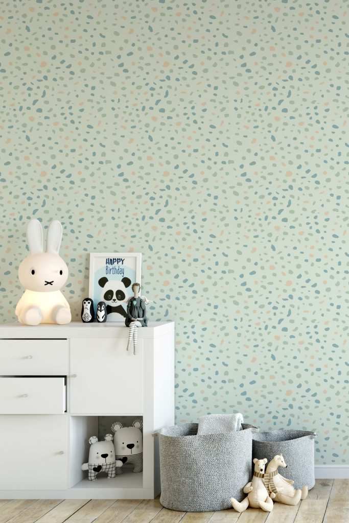 How To Use Neo Mint - The Colour of 2020 | Neo Mint inspired wallpaper. Bits & Pieces by Karlie Klum introduces pattern and colour to your walls.