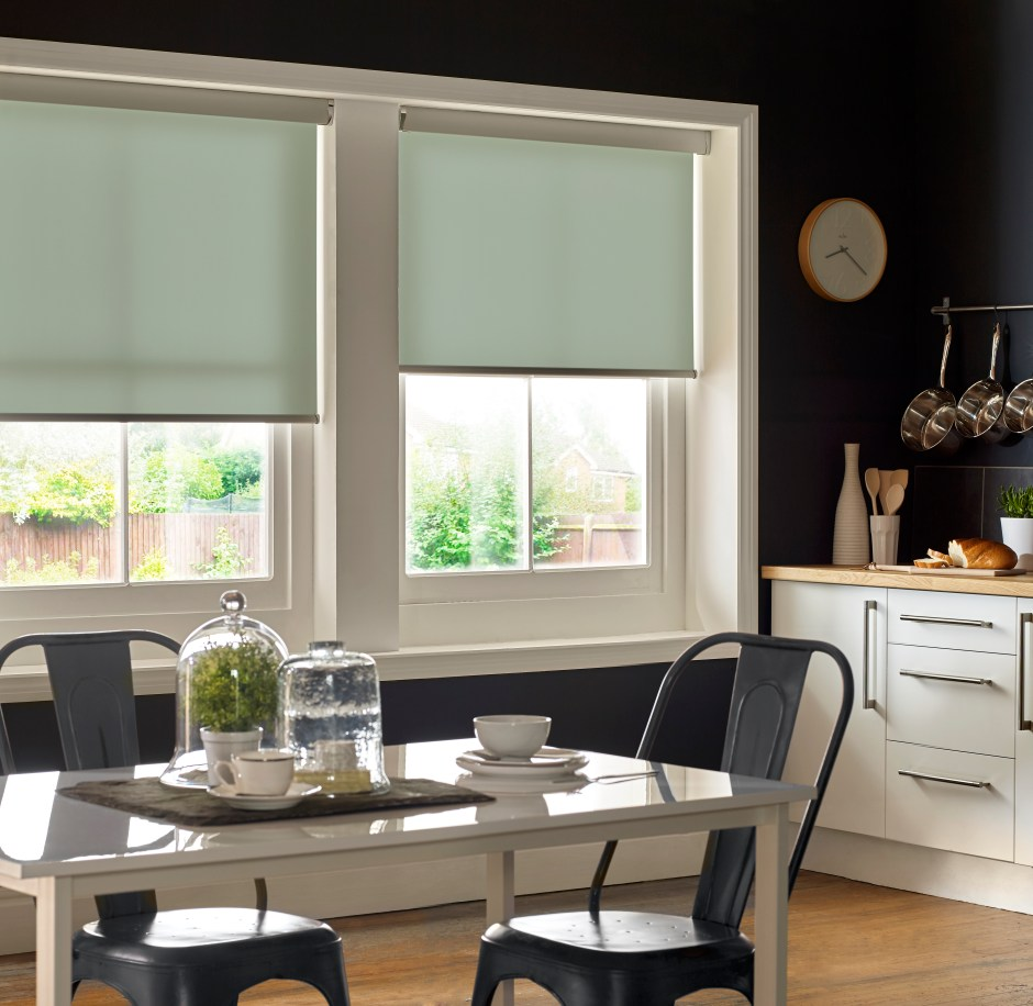 How To Use Neo Mint - The Colour of 2020 - Neo Mint blinds introduce a clean fresh look to kitchen spaces and compliment dark decor choices.