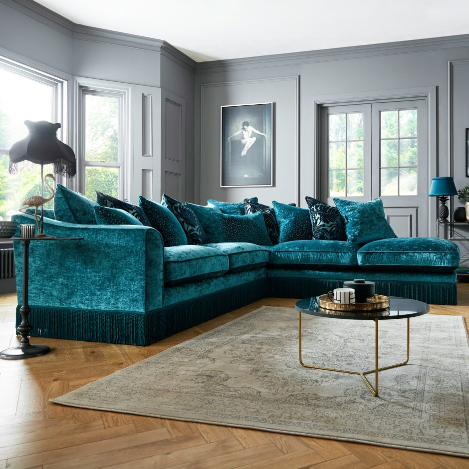 The Fringe Trend For Your Homes Latest fringed sofa Vivienne is available in an array of colours and seating options. Available from Sofology.